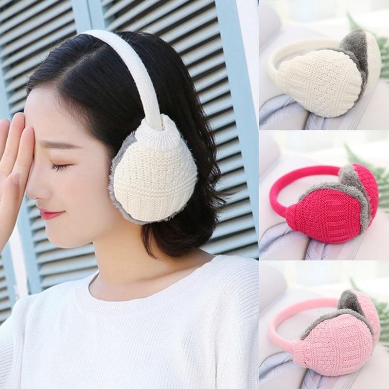 Women Earmuffs Winter Warm Plush Ears Mask 2019 New Fashion Women Knited Ear Antifreeze Outdoor Protect Ears Accessories