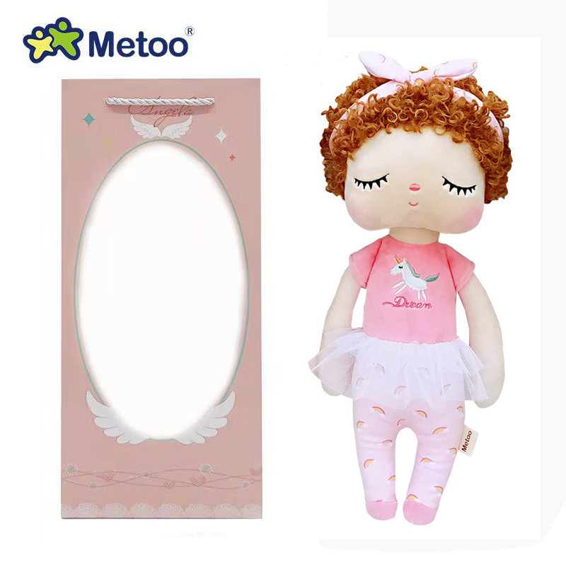 34cm Boxed Metoo Doll Stuffed Toys Plush Animals Kids Toys For Girls Children Boys Baby Soft Plush Toys Cartoon Angela Rabbit