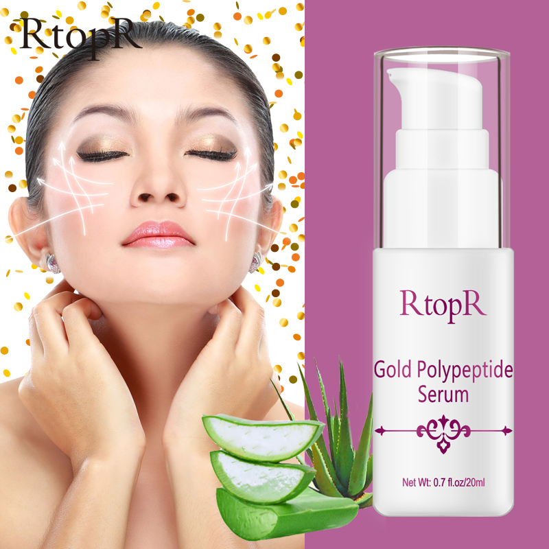 Gold Polypeptide Serum Argireline Repair Skin Anti-aging Hyaluronic Acid Whitening Skin Care Essence Face Care Anti Wrinkle