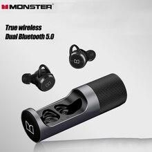 سماعات بلوتوث مونستر كلاريت101 سماعات أذن لاسلكية حقيقية TWS رياضية تعمل ببطارية طويلة للحد من الضوضاء