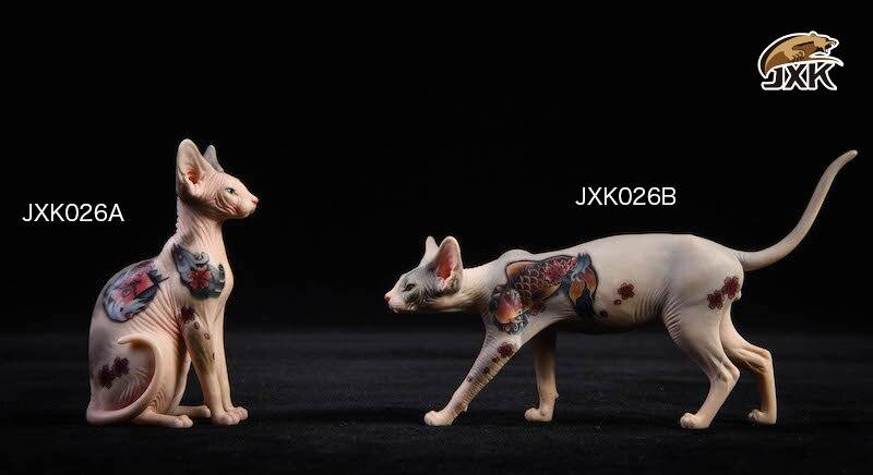 JxK.Studio JxK026 A Tattooed Hairless Cat Sphinx Resin Sitting Posture Model