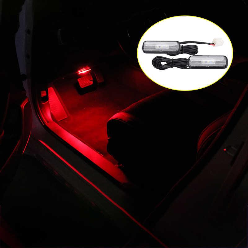 12V LED luz interior de Ambiente de coche decoración lámpara suelas ambiente luces en pies para Honda Civic Accord CRV 2018 accesorios de 2019