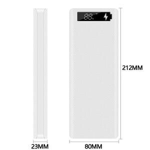 Image 2 - Çift USB 10*18650 taşınabilir güç kaynağı kılıfı cep telefonu hızlı şarj cihazı depolama DIY kabuk dijital ekran 18650 pil tutucu şarj kutusu