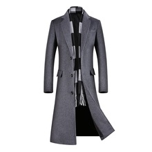 2020 Male Winter Woolen Coat Men's Jackets Windbre