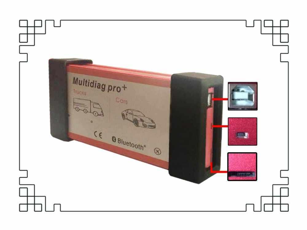 Qualtiay A + Xanh Đơn Bảng NEC Tiếp Multidiag Pro Plus Có Bluetooth OBDII Xe Tải Xe Tải Công Cụ Chẩn Đoán (2015R3/2016. R0)