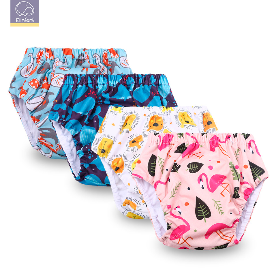 Elinfant 1 Pcs Adjustable Cotton Baby Washable Cloth Diaper Reusable Nappies / LABS  Baby Training Pants Freeshipping