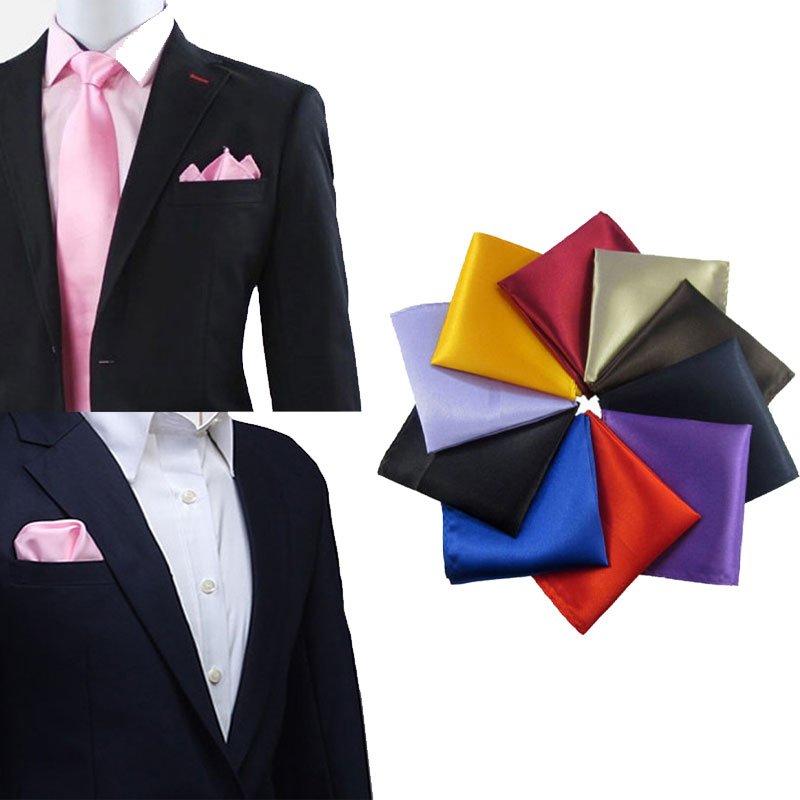 Silk Texture Men Pocket Towel Chest Towel Handkerchief Banquet Gentleman Fashion Solid Men Wedding Parties Clothing Accessories
