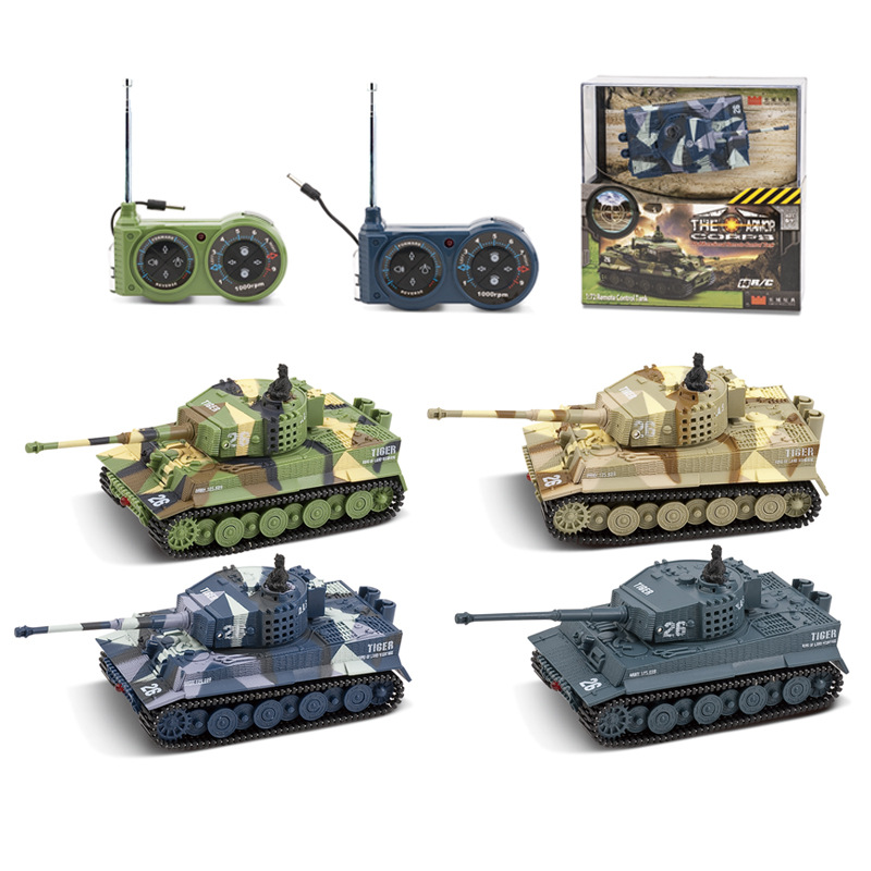Great Wall 2117 Germany Tiger-type Mini Model Remote Control Tank Multi-functional Rotating Turret Tank Model Toy