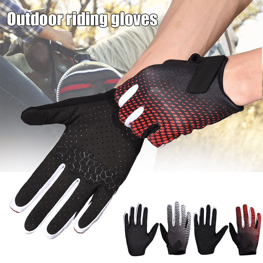Newly 1 Pair Horse Riding Gloves Equestrian Riding Gloves for Men Women Lightweight Breathable Outdoor