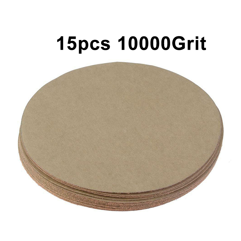 15 Pieces 5 Inches Sanding Discs Hook Loop 400 1500 5000 10000 Grit Sand Polishing Paper Round Sandpaper Abrasive Tools