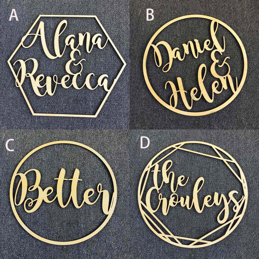 Personalized Wedding Sign Hoop Style Name Wooden decor,Reception Decor,wedding sign Hoop,Photo Prop Wall Sign For Bride & Groom (5)