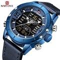 Люксовый бренд NAVIFORCE мужские часы светодиодный цифровой водонепроницаемый часы модные кварцевые часы мужские военные наручные часы Relogio ...