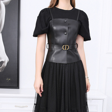 2021 New Style Women's Fashion Short Genuine Leather Vest Retail And Wholesale