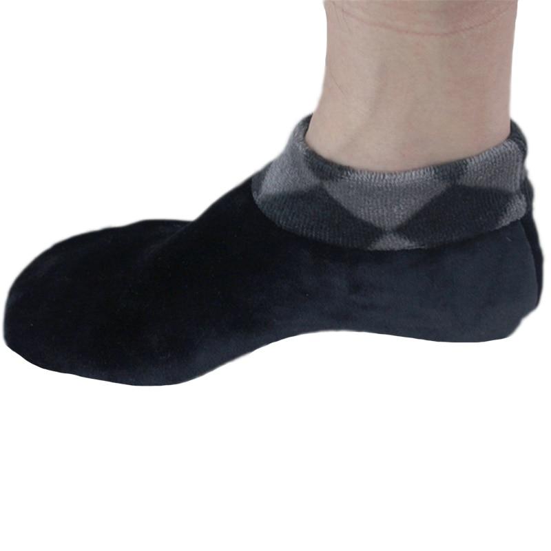 New Men's Double-faced Velvet Calcetines Invierno Padded Non-slip Rubber Socks Winter Warm Home Floor Socks  Calcetines Invierno