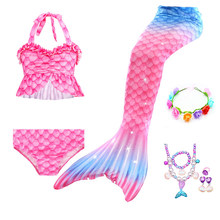 summer Girls Mermaid Tail Swimsuit Children the Little Mermaid Costume Cosplay Beach Clothes Bathing Suit dress