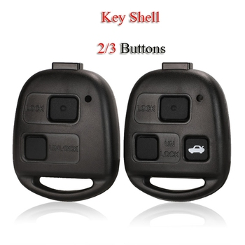Kutery Remote Smart Car Key Shell For Lexus RX300 ES300 LS400 GX460 For Toyota Corolla Camry RAV4 2/3Buttons Case Fob Cover image