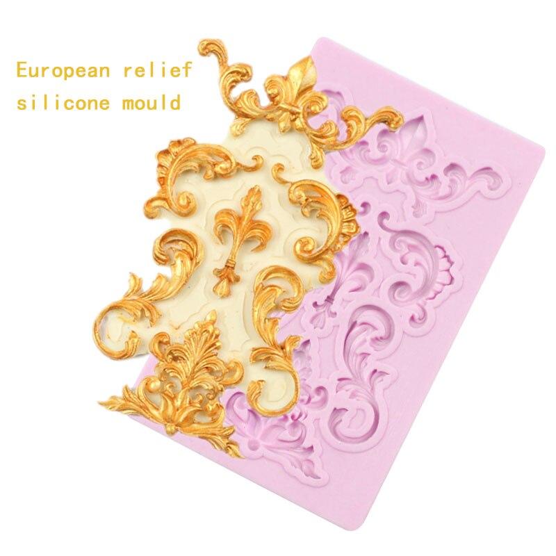 Цельнокроеное платье границы силиконовая форма Fondant Mold торт декоративные инструменты форма для шоколадной мастики из сахара, инструменты д...