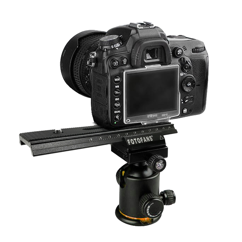 Curseur de Rail de focalisation Macro de curseur de Rail mobile de 2 manières pour le Rail de curseur de tir vidéo de Canon d'appareil-photo de reflex numérique avec la vis de montage 1/4