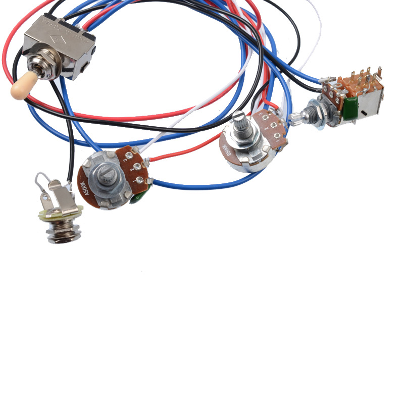 Best Sale #e13ea - Electric Guitar Wiring Harness Kit 2V2T ... Gibson Guitar Wiring Harness on gibson es-335 wiring, gibson les paul wiring mods, gibson 50s wiring, gibson switch wiring,
