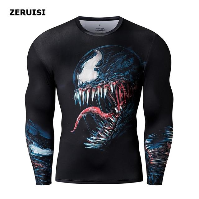 Nieuwe Collectie 3D Bedrukte T Shirts Mannen Compressie Shirt Kostuum Lange Mouw Tops Voor Mannelijke Fitness Hip Hop Kleding