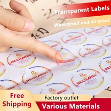 Custom Brand Name Peelable Hot Stamping Silver Gold Foil Printing Adhesive Paper Stickers Labels