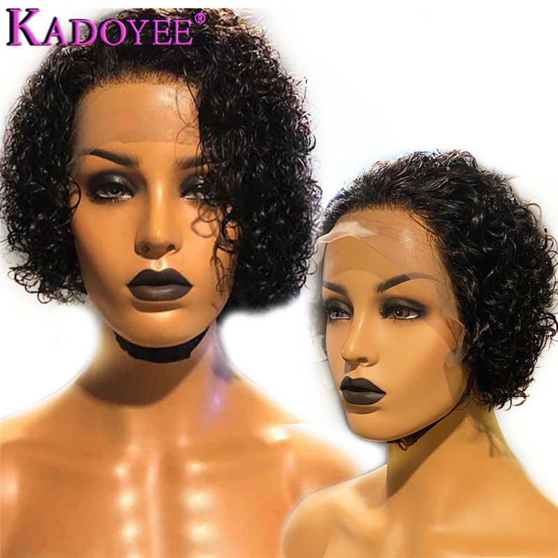 Pixie Cut Wig Curly Bob Lace Front Wig For Women Brazilian Short Bob Wig Lace Front Human Hair Wig PrePlucked 13x4 Remy Lace Wig