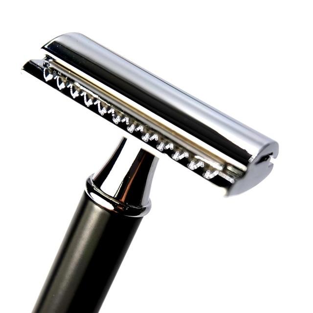 WHZ SKU2975 Metal Mesh Vintage Razor Retro Double-sided Shaver 2