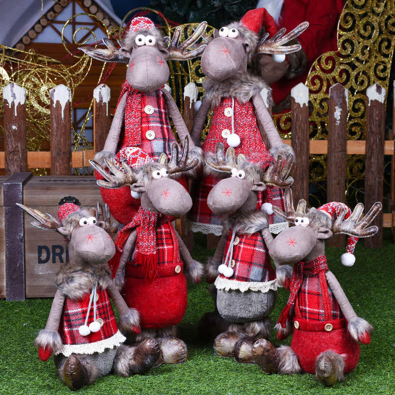 Figure di Natale Babbo Natale Bambola Di Natale Decorazioni Per La Casa Di Buon Natale Natale Ornamenti di Natale Decorazione del Giardino Navidad Nuovo Anno