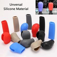 Car Gear Shift Knob Cover Universal Silica gel Collars Manual Gearshift Sleeve Silicone Head Protector