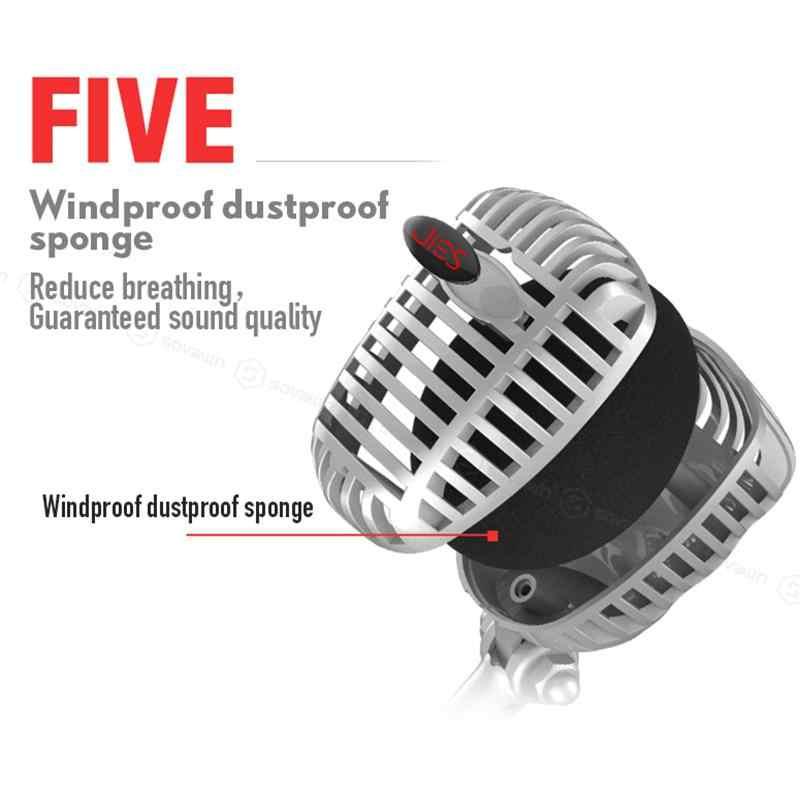 Караоке микрофон проводной студийный HD шумоподавление конденсаторный настольный USB 3,5 мм Mircophone для компьютера Профессиональный ретро микрофон