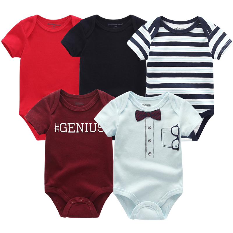 2020 Baby Rompers 5-pack infantil Jumpsuit Boy&girls clothes Summer High quality Striped newborn ropa bebe Clothing Costume | Happy Baby Mama