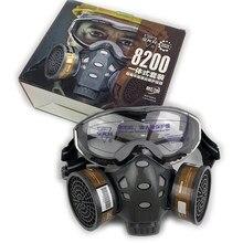 Пылезащитная Защитная противогаз с фильтром, канистра, защитная маска, спрей-краска, химические респиратор от пестицидов полумаски на все л...