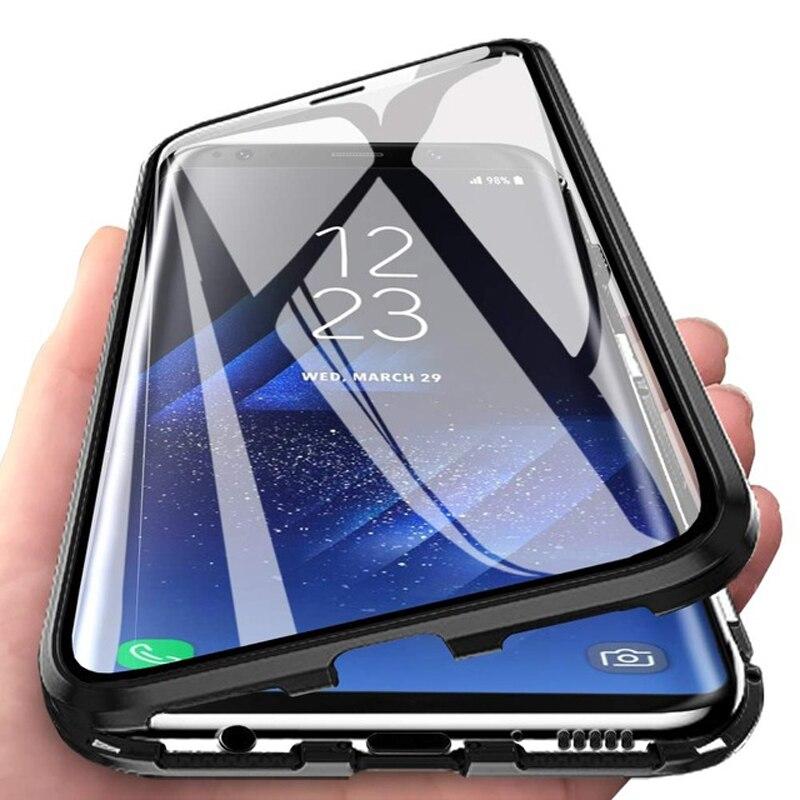 Магнитный двухсторонний стеклянный чехол для Samsung S20 FE S10 E S9 S8 S21 S30 Note 20 10 9 8 Plus Ultra Lite A51 A71 A50 A70 M51 M21