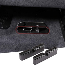 Black Under Seat Air Outlet Dust Cover Trim for BMW X5 G05 2019 2020