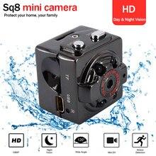SQ8 Mini HD كاميرا ذكية 1080p 720P وضع تسجيل مزدوج مايكرو كاميرا لا سلكية للرؤية الليلية كاميرا صغيرة Minicamera microroom DVR