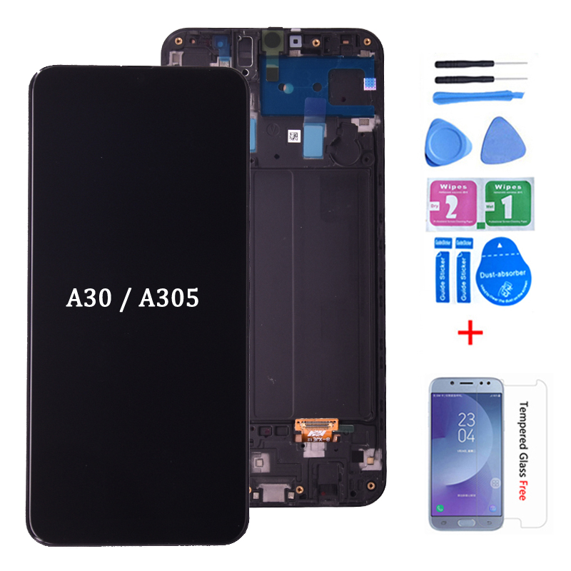 6.4'' Display For <font><b>Samsung</b></font> galaxy <font><b>A30</b></font> A305/DS A305F A305FD A305A <font><b>LCD</b></font> Touch Screen Digitizer Assembly For <font><b>Samsung</b></font> <font><b>A30</b></font> <font><b>lcd</b></font> image