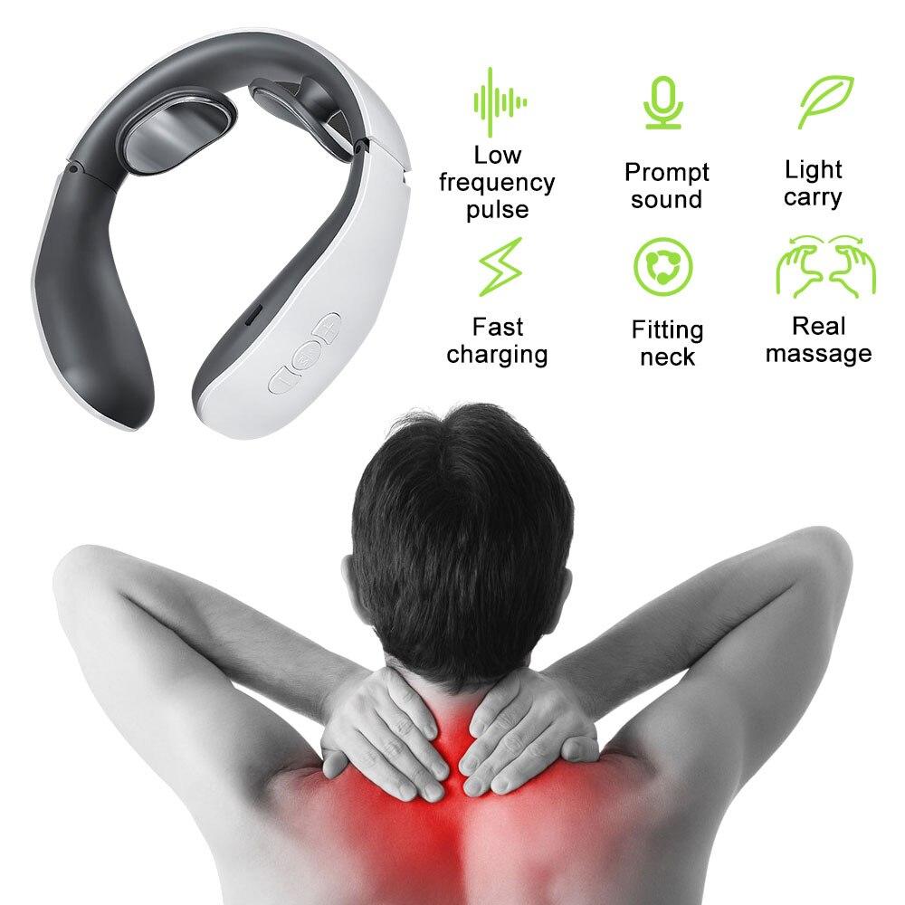 Электрический массажер для шеи, массажер для шеи, инструмент для облегчения боли, способствует циркуляции крови, стимулятор мышц, массажный релаксационный аппарат