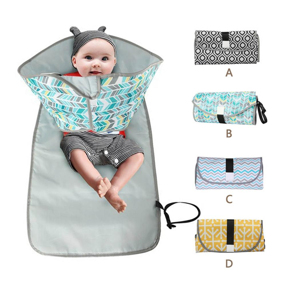 Portable Foldable Waterproof Baby Diaper Nappy Changing Mat Pad Station for Home Travel Public Place Outdoor Activities image