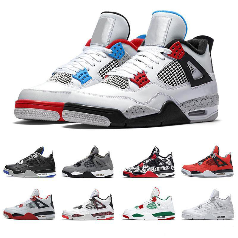 2019 Hot Basketball Shoes Retro 4 Men Mens Pure Black Laser Sport Black Royal From Outdoor Sneakers Designer Shoes US7-13