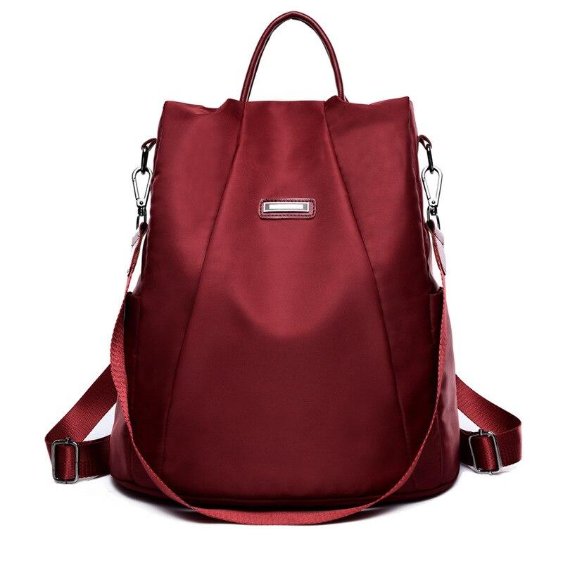 New Bag Waterproof Oxford Women Backpack Zipper School Bags For Teenagers Anti-theft Backpack Female Rucksack Leisure Backpacks