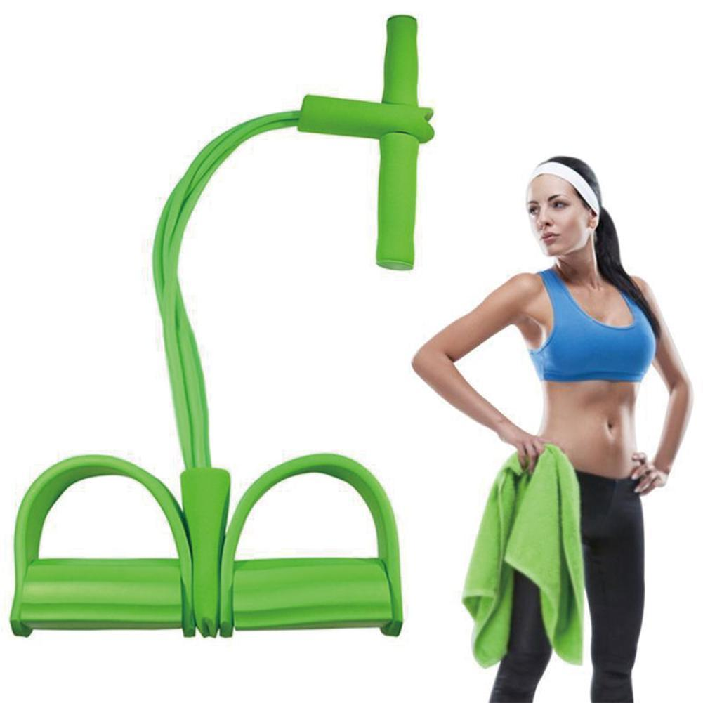 2/4 Tube Strong Fitness Resistance Bands Latex Pedal Yoga Sports Slimming Pull Fitness Pilates Ropes Equipment Foot Exercis C0Y3