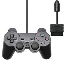 Için PS2 kablolu USB PC oyun denetleyicisi Gamepad Manette için Playstation 2 Controle Mando için Joypad playstation 2 konsolu aksesuar