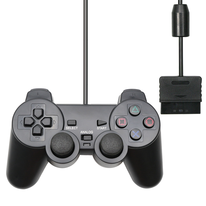 For PS2 Wired Controller Gamepad Manette For Playstation 2 Controle Mando Joystick For playstation 2 Console Accessory image