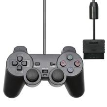 Için PS2 kablolu denetleyici Gamepad Manette için Playstation 2 Controle Mando Joystick playstation 2 konsolu aksesuar