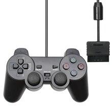 Para ps2 com fio controlador gamepad manette para playstation 2 controle mando joystick para playstation 2 console acessório