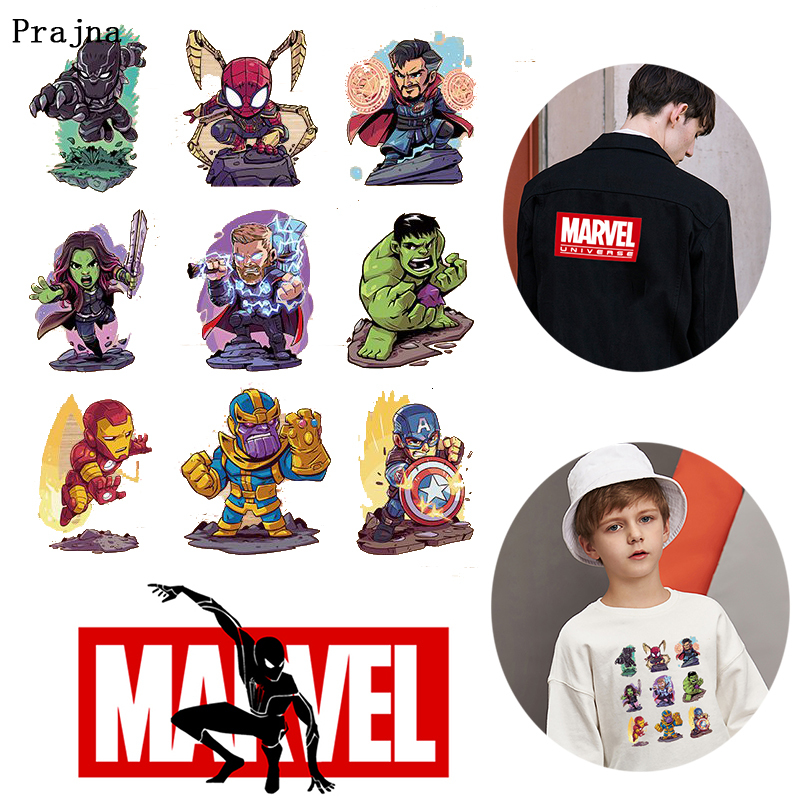Prajna <font><b>Marvel</b></font> Superman <font><b>Patches</b></font> <font><b>For</b></font> <font><b>Clothing</b></font> Badge Stickers Cartoon Anime Heat Transfer On Jacket Applique Accessories Decor F image