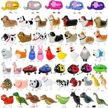 Balão de dinossauro, balão de gás hélio para decoração de festa de aniversário infantil, animal de estimação fofo de panda com 10 pçs/lote misturas brinquedo,