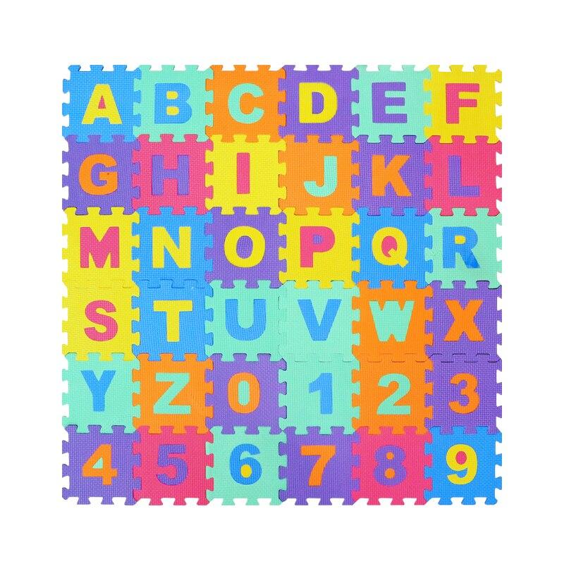 36PCS/Lot Baby EVA Foam Play Puzzle Mat Color Crawling Carpet Rugs Interlocking Floor Protective Tiles Soft Kids Jigsaw Mats