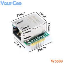 USR-ES1 w5500 spi para lan ethernet conversor placa módulo tcp ip 51 stm32 microcontrolador wiz820io rc5 para arduino