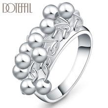 DOTEFFIL – bague en argent Sterling 925 pour femmes, bijoux en perles de raisin lisses, à la mode, cadeau de fête de fiançailles et de mariage